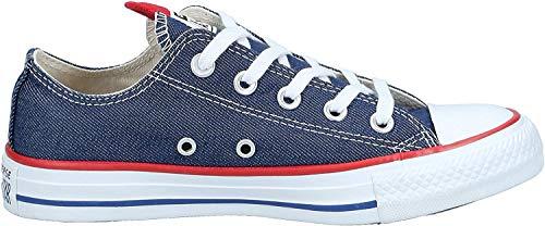 Converse Damen Chuck Taylor All Star Sneaker, Blau (Indigo/Enamel Red/White 000), 36 EU