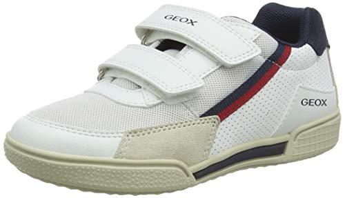 Geox J POSEIDO Boy F, Zapatillas para Niños, Blanco (White/Navy C0899), 35 EU