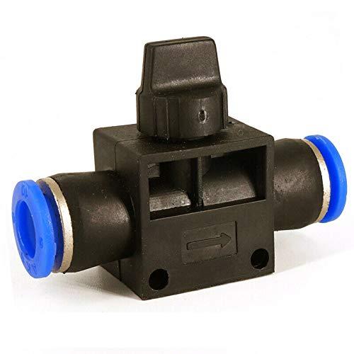 Pneumatisches Steuerventil SENRISE Nylon Pneumatische Verbindungsstück Absperrventil Luft Quick Pneumatische Rohrschlauch für Luftwasser Vakuum (6–12 mm), Mehrfarbig