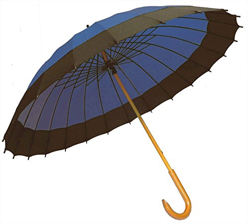 二十四本骨蛇の目風和傘 紺 JK-01紺