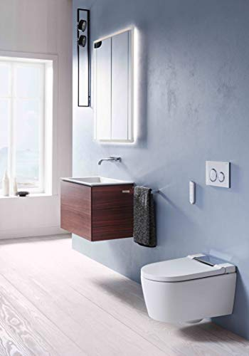 Geberit AquaClean Sela Dusch-WC für die Wandmontage, Farbe:Chrom