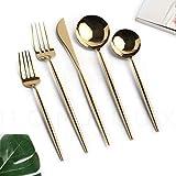 Homelux Theory 18/10 Gold Stainless Steel Flatware Silverware Cutlery Set   5-piece Adaline Royal...