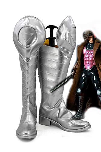 X-men Gambit Cosplay botas zapatos zapatos de tacón alto para hombres adultos hechos a medida Halloween carnaval zapatos 34 tamaño masculino