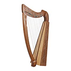 22 strings - 3 octaves - Excellent lightweight harp Note range of C3 to C6 - Color coded strings for easy play Full Chelby lever harp - Easily change keys Handcrafted frame of solid wood Tuning tool and extra string set included