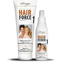 Hair Force One kit Loción 150 ml + champú 250 ml - Anti caída Ahuyentador cabello - Claude Bell