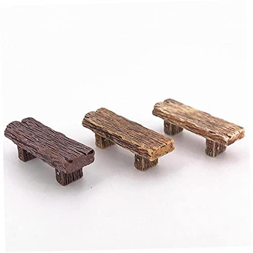Zonster 3pcs Holzbänke, Miniatur-Verzierungen Für Landschafts Fee Gartenbonsai Dekorationen Puppenstubenzubehör
