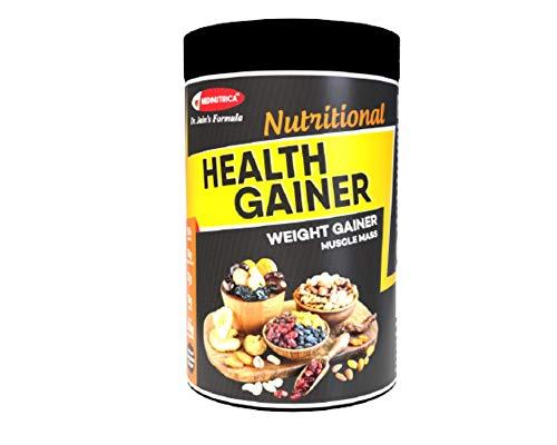 MEDINUTRICA Health Gainer / Muscle Mass Gainer / Gainer Supplement Weight Gain Formula ( 22 gm Fat , 31 Vitamins & Minerals , 10 gm Protein & Ayurvedic Herbs ) for Men & Women - 500 gms (American Chocolate Flavor)