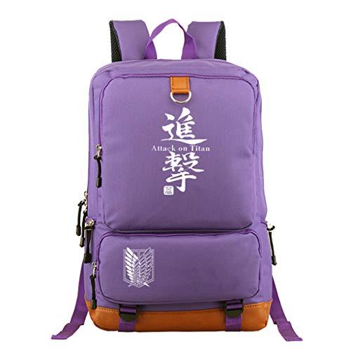 KIACIYA Mochila Anime Attack on Titan, Shingeki No Kyojin Scout Regiment Levi·Ackerman Cosplay Mochila Escolar Casual Estudiante Bolsa de Gran Capacidad Ordenador Portátil Backpack (Z1)