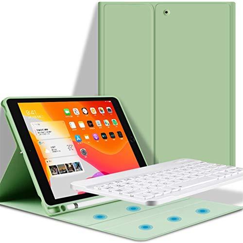 QiuKui Tab Funda para iPad Pro 10.5 11 2020 iPad Air 3 4 10.9 10.2 2019, Funda de Teclado de función de sueño automático/de activación con Soporte para lápices para iPad Air 2 1 9.7 2018 8