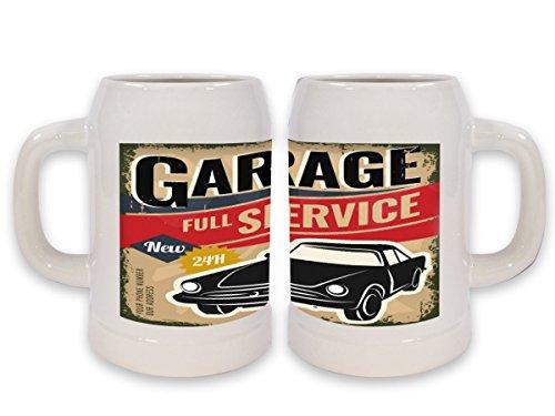 Boccale Birra Garage Officina Stampato Gas Stazioni