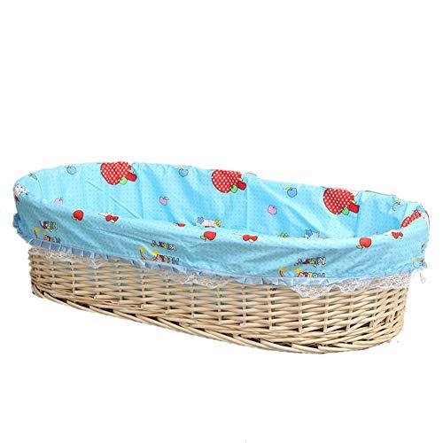 G-Moses Baskets GOUO@ Bébé en Rotin Moïse Panier Portable Bébé Transportant Hors-de-Voiture Panier Paille Bébé Nouveau-né Panier De Couchage Berceau Lit