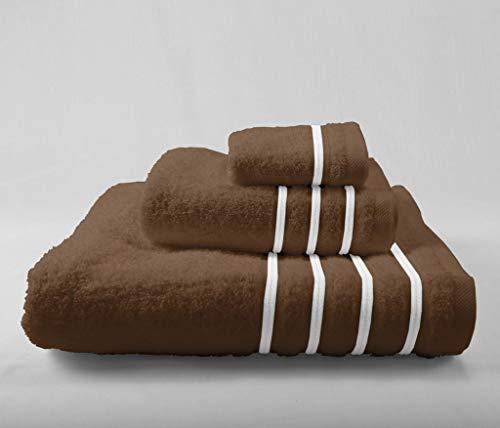 Energy Colors Textil - Hogar - Cenefa - Juego de Toalla 3 Piezas 100% Algodón de 500 Gramos (Wengué - Marrón)