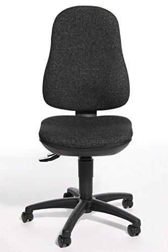 Topstar Bürostuhl Point 70 anthrazit mit Bandscheibensitz - Doppelrollen-Set für Teppichböden