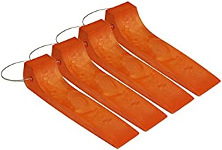 Mytee Products (4 Pack) Tire Skates for Tow Truck Wrecker Rollback Carrier Safety Orange