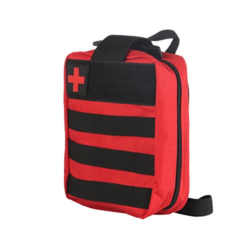 ONEVER Kit de Primeros Auxilios Kit de Supervivencia táctico Molle Rip-Away EMT Bolsa de Bolsa IFAK Medical para situaciones de Emergencia de táctica (Red)