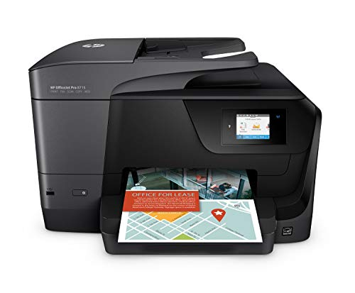 HP Officejet Pro 8715 – Impresora multifunción (Tinta Color, WiFi, fax, copiar, escanear, impresión a Doble Cara, 1200 x 1200 PPP, A4, Incluido 3 Meses de HP Instant Ink) Color Negro