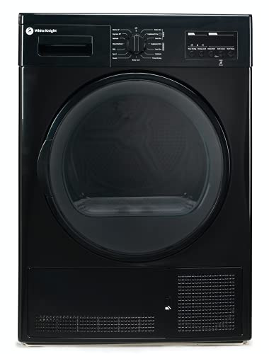 White Knight Condenser Tumble Dryer Black 8KG DAB96V8WB