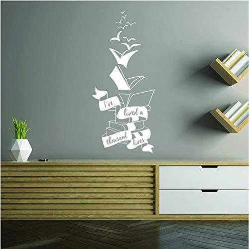 Motivationele muursticker citaat inspirerende positieve boek Sticker lezen Lover in Stickers Lees meer boeken schat muurschildering 42x94cm