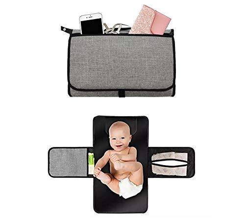 Bolsa de cambio de bebé impermeable, almohadilla de cambio, bolsa de pañales, cambiador de viaje, transporte de bebé, regalo práctico para baby shower, juguetes, cremas, teléfono, llaves