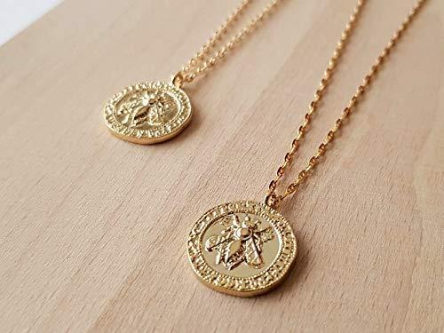 Bienenmedaille Anhänger Halskette - Biene von Ephesus - Geschenk für sie