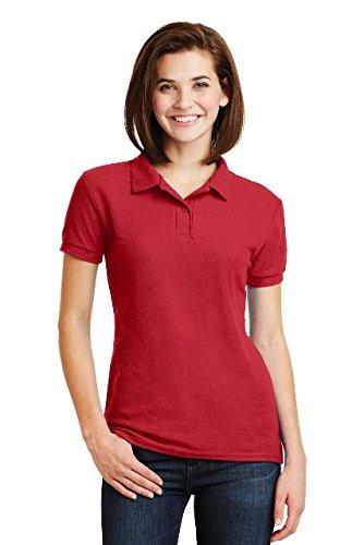 Gildan - Ladies DryBlend Double Pique Polo Shirt - 72800L-Red-XL