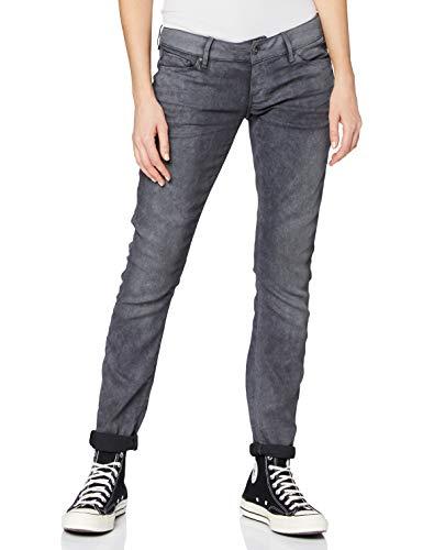 G-STAR RAW Damen Jeans 3301 Low Waist Super Skinny, Grau (Dk Aged Cobler 7863-3143), 27W / 34L