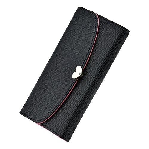 Cozyswan a Zip, portamonete a portafoglio in pelle verniciata, dicono le donne s Purse, colore: nero