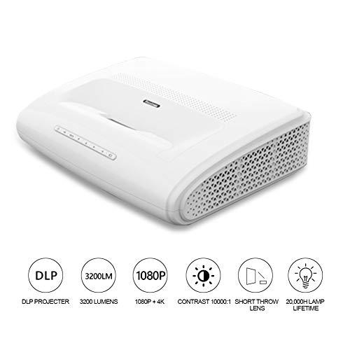 Lowest Price! Diyeeni Projector (LED HD 1920 1080 4K) Intelligent, Portable, Projector Home Cinema(U...