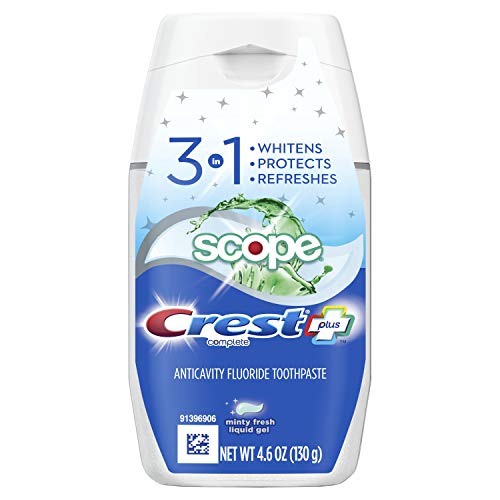 6 Bottles Of Crest Complete Plus Scope 3-In-1 Teeth Whitening Liquid Gel Toothpaste For $7.89-$8.30 From Amazon