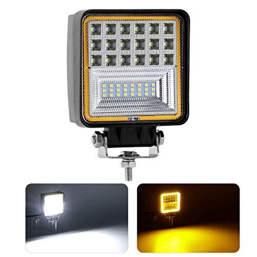 KAWELL 48W Lampe de Travail LED Ange Lumière des Yeux Offroad Phares Antibrouillard LED Combo Lumière Projecteur LED Voiture SUV UTV ATV 4x4 Spot à LED pour Camion Tracteur Bateau