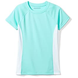 Amazon Essentials Girls' UPF 50+ Swim T-Shirt