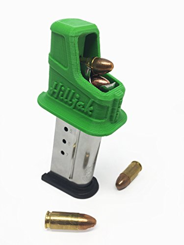 Hilljak Smith & Wesson M&P 9 Shield (1.0, 2.0) 40 Shield, Springfield Armory XD-S XD-E 9mm Single-Stack Magazine Speed Loader, Quickie Loader QL9S - Hunter Green