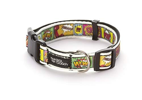 Collar Perro Nylon - Ajustable Tamaños - para Perros Pequeño, Mediano y Grande - Collares Accesorios Mascotas (S - 1,5 x 28-40 cm, Cómic)