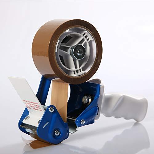 LILENO HOME Paketbandabroller als Handabroller für Klebeband - Hochwertiger Klebebandabroller mit Abrollbremse - Profi Packband Abroller für unterschiedliches Paketklebeband - Hand Tape Gun