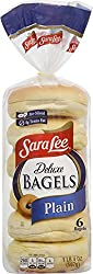 Sara Lee Plain Deluxe Bagel, 6 count, 20 oz