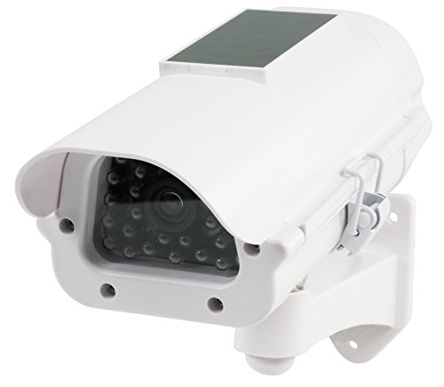 König Profi Kamera Dummy mit Solar Panel + Blinkender LED blinkende LEDs - Tolle Überwachungskamera Attrappe CCD IP44 Aussenbereich Kameraatrappe Innen Außen Fake Überwachung Haus Sicherheit Security