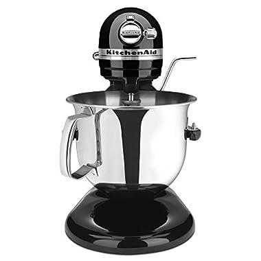 KitchenAid Certified Refurbished Bowl-Lift Stand Mixer RKSM6573OB, 6-Qt, Onyx Black