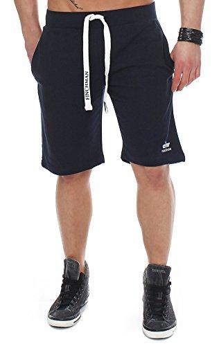 Finchman 98V3 Herren Cotton Sweat Short Kurze Hose Bermuda Navy M