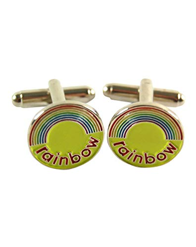 Official Rainbow Logo Cufflinks
