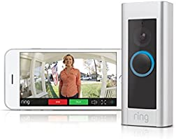 Ring Video DoorBell Pro - Hardwired WiFi Doorbell Security Camera - Sleek Design with Two way talk - Full HD video -...