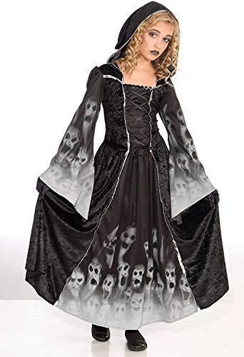 Bristol Novelty CC190, Costume de Princesse des Esprits, 11–12Ans, Blanc, Large, 134-146 cm