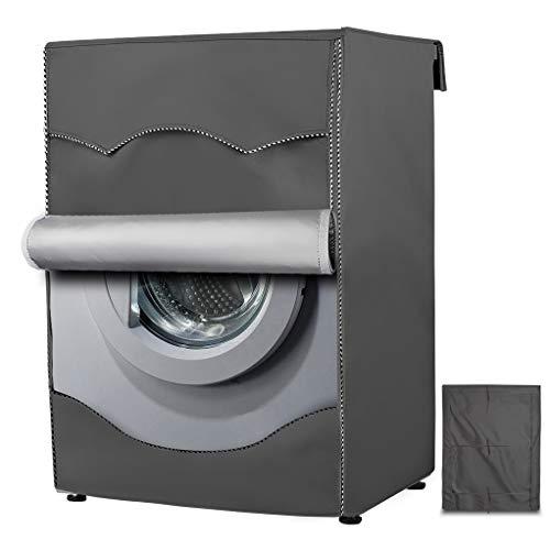 AlaSou Fund de lavadoro,Funda para Lavadora Carga Frontal Impermeable,Cúbranse por Cuatro Lados (Gray,Profundidad de 51~57cm)