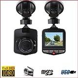 Dashcam Full HD 1080p - Caméra de voiture embarquée - Noir - Sans carte mémoire