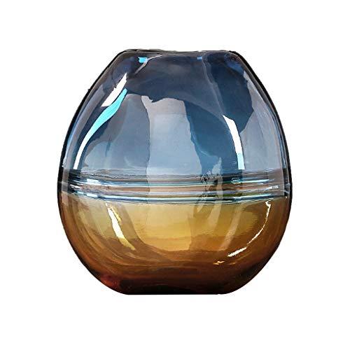 Vase JXLBB - Jarrón decorativo de cristal, diseño creativo de flores secas