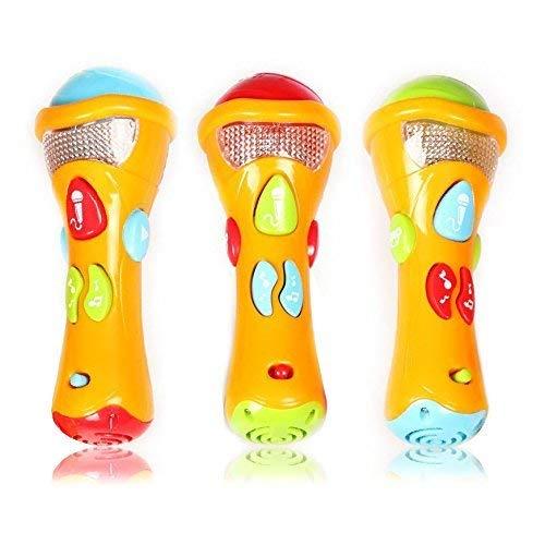 Jzhen Micrófono Karaoke Infantil, Juguetes Musicales para Niños - Grabación, Transformación Acústica, Canciones e Iluminación