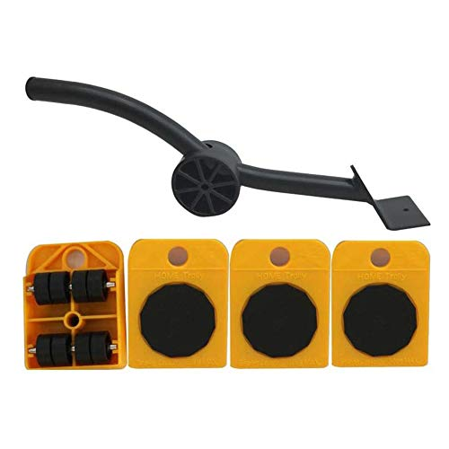5 Pcs Set Crowbar Plastic Mover Thick Weight Handling Tools Moving Mat Move Furniture Moving Pad Slider Glider System