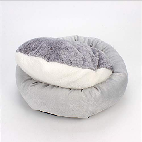 Gyy Pet Bed Cat Hut Tent Cave Elevated Bed Sleeping Bag Sofa Basket Cushion Waterproof Anti-Slip Egg Tart Cat Litter Plus Velvet Soft Removable