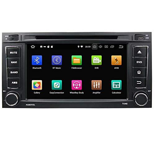 ROADYAKO Android 8.0 Auto Media pour VW Touareg/Multivan 2008 2009 2010 2010 2011 2012 Autoradio Stéréo GPS Navigation 3G WiFi Lien Miroir RDS FM AM Bluetooth