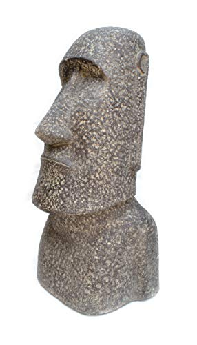 FaHome Moai Estatua Rapa-NUI Escultura de jardín decoración aprox. 100 cm Lavasand - Figura de isla de Pascua, color gris