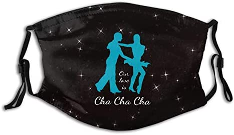 Our Love is Cha Cha Cha Dance Ballroom Face Mask Reusable Anti Dust with 2 Pcs Filter Adjustable product image